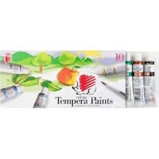 Ico süni 10 színű tempera festék 16 ml alumínium tubusban  - Tempera készlet