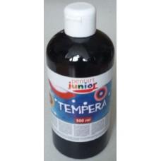 Pentart fekete tempera festék 500 ml műanyag flakonban - Pentart Junior 6492