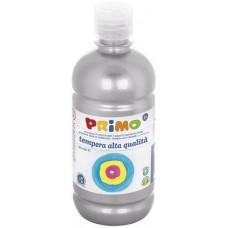 Primo ezüst színű tempera festék 500 ml PET palackban - Szín 910