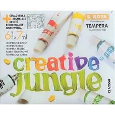 6 színű tempera festék 7 ml alu tubusban - Creative Jungle - Tempera készlet