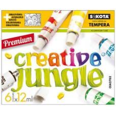 6 színű tempera festék 12 ml alumínium tubusban - Creative Jungle - Tempera készlet