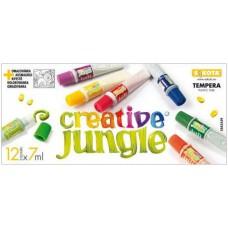 12 színű tempera festék 7 ml műanyag tubusban - Creative Jungle - Tempera készlet