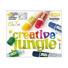6 színű tempera festék 7 ml műanyag tubusban - Creative Jungle - Tempera készlet
