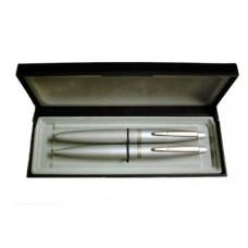 Gravírozható elegáns 2 darabos tollkészlet díszdobozban - Golyóstoll és töltőtoll - Banker