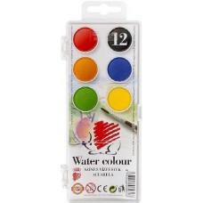 Ico süni - Kisgombos vízfesték készlet 12 darabos - Akvarell festék - Koh I Noor