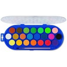 Primo vízfesték készlet 22 színű, ecsettel - 30 mm
