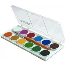 Adel vízfesték készlet kis gombos 12 darabos, ecsettel - 921 - Akvarell festék