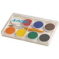 Kis gombos vízfesték készlet 8 darabos, ecsettel - Adel 911 - Akvarell festék