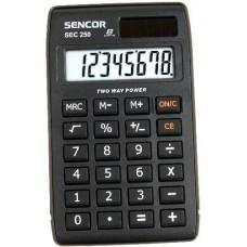 Sencor SEC 250 8 számjegyes zsebszámológép nagy kijelzővel