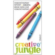 Zsírkréta készlet 6 darabos - Creative Jungle